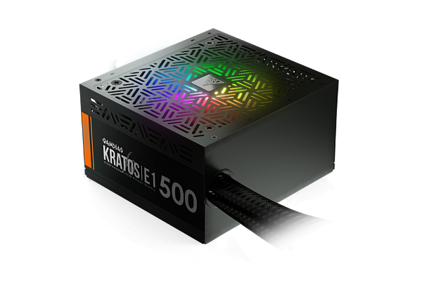Блок питания Gamdias KRATOS E1-500 (500W/120mm RGB fan/RGB Sync)