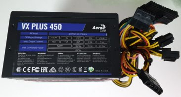 Блок питания Aerocool ATX 450W VX PLUS 450W (24+4+4pin) 120mm fan 2xSATA RTL
